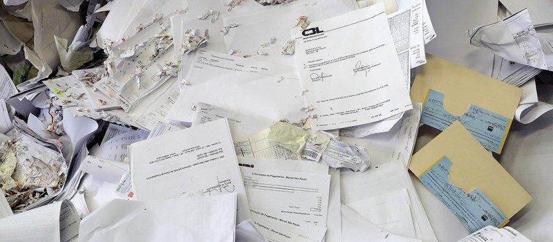 Destruição de documentos confidenciais