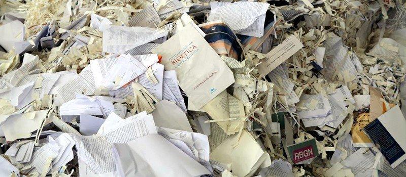 Empresas de trituração de documentos