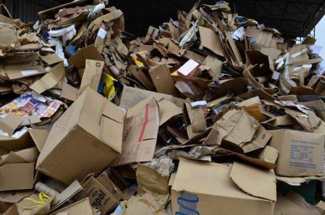 Reciclagem de papelão