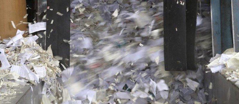 Trituração de documentos sigilosos