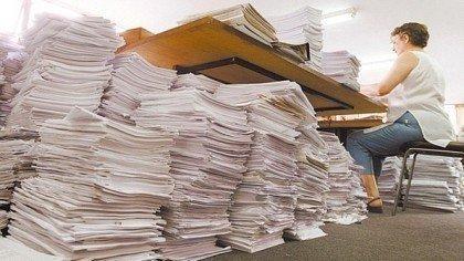 Trituração de papel
